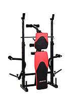 Штанга 50 кг со скамейкой HS-1060 с партой и тягой, фото 3