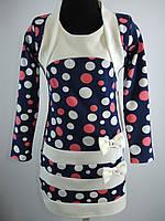 Трикотажное платье+болеро для девочки 104-134 рост