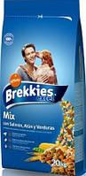 Brekkies Excel Mix Fish (Брекиз Эксель Микс) корм для взрослых собак с лососем и тунцом 20 кг