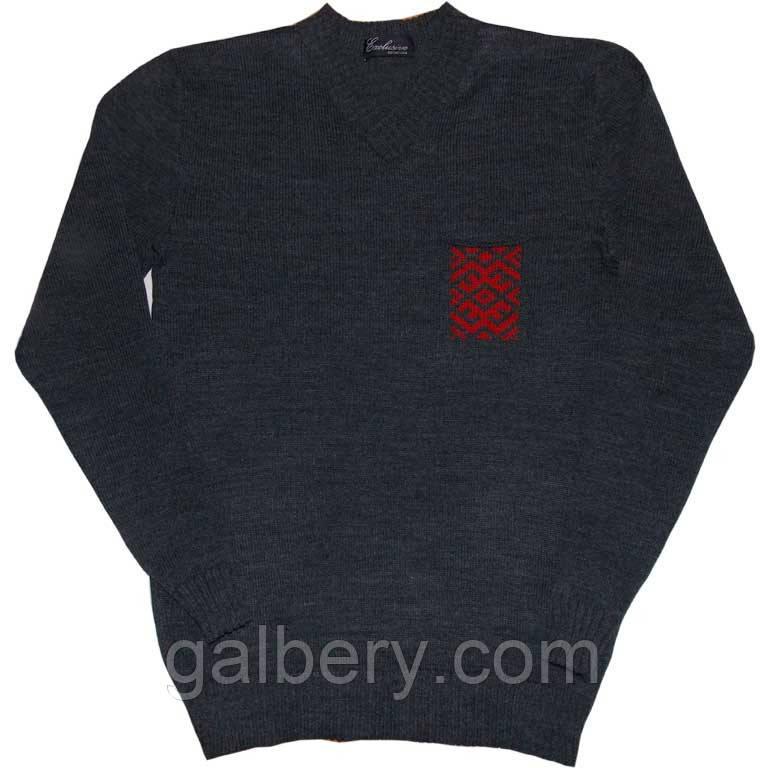 """Вязаный мужской свитер из коллекции """"Вышиваночка"""""""