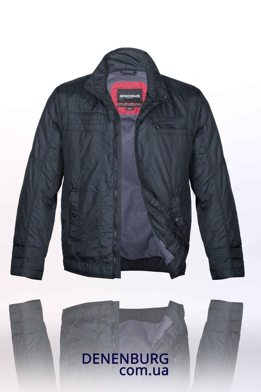 Куртка мужская демисезонная SANTORYO 7448 тёмно-синяя  продажа 97472c7c9b2b6