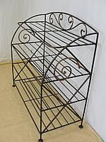 Этажерка для обуви с коваными элементами (шир. 47см, 4 полки)