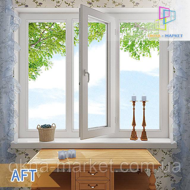 Дешевые трехстворчатые окна AFT компания