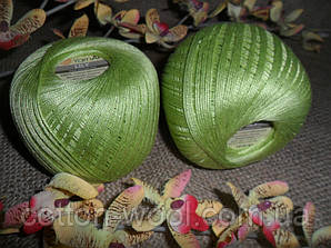 YarnArt Lily  (Ярнарт Лили) 100% мерсеризованный хлопок 5352 зеленое яблоко