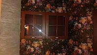 Навесной шкаф для кухни из деревянными фасадами