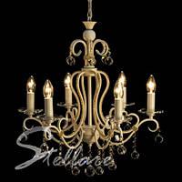 Люстра 6-ти ламповая, классическая, для зала