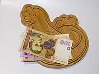 "Дерев'яна монетниця ""Птах"", фото 1"