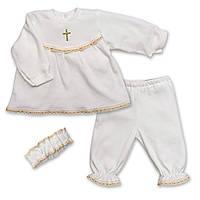 Костюм крестильный для девочки «Мария» Интерлок р.56-86