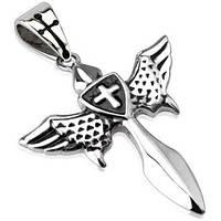 Кулон из нержавеющей стали крылатый меч Spikes