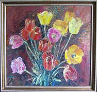 Картина цветы «Тюльпаны» современные интерьеры картины