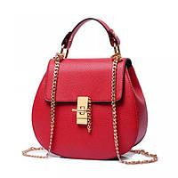 Женская сумка в стиле CHLOE. Красная