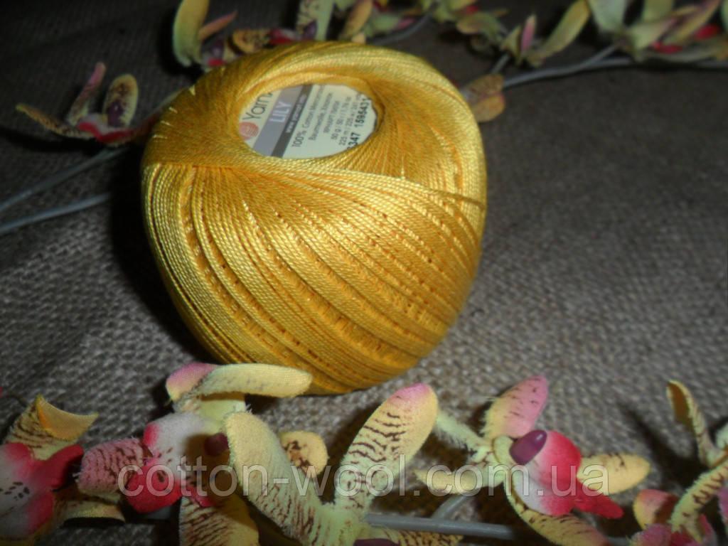 YarnArt Lily  (Ярнарт Лили) 100% мерсеризованный хлопок 6347 соломенно-желтый