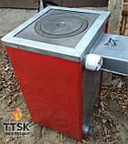 Котел твердопаливний з чавунною плитою Карбон (CARBON) КСТО 14 П Котел-плита Турбований, фото 4