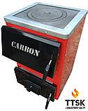 Котел твердопаливний з чавунною плитою Карбон (CARBON) КСТО 14 П Котел-плита Турбований, фото 2