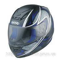 MTR S-7 Graphic Black/Blue, XL Мотошлем интеграл