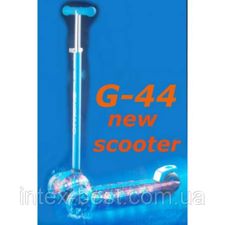 Самокат G-44 металлик trolo maxi new micro scooter светящаяся платформа с наклоном руля, фото 2