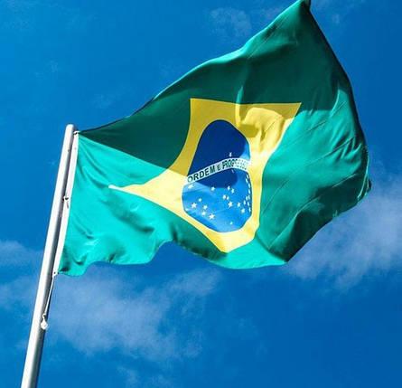 Національний прапор Бразилії 90х150см, фото 2