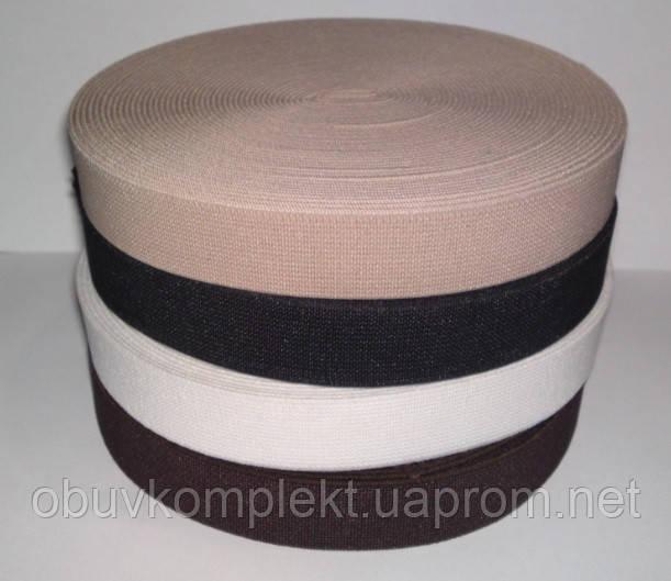 Резинка обувная эластичная 2 см. цв.черный