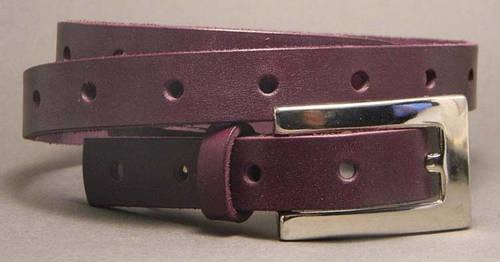 Восхитительный женский ремень из натуральной кожи Марго 2 см Svetlana Zubko F205 фиолетовый