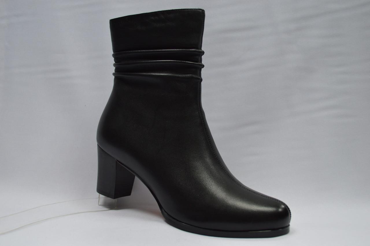 Черные кожаные  ботинки  Reliss