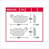 Тормозные колодки мотоциклетные TRW / Lucas MCB634SH