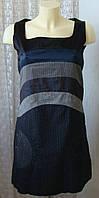 Платье женское модное демисезонное хлопок мини бренд Desigual р.44 5438а