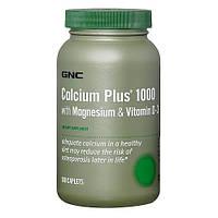 Минеральный комплекс GNC Calcium Plus 1000 with Magnesium & Vitamin D-3 (180 таб) (101981) Фирменный товар!