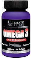 Комплекс незаменимых жирных кислот Ultimate Nutrition Omega 3 (90 капс) (104309) Фирменный товар!