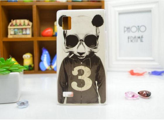 Чехол для LG Optimus L9/p760/p765 панель накладка с рисунком панда, фото 2
