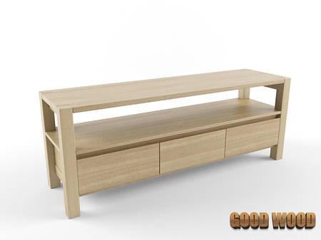 Комод деревянный Км-2, ясень или дуб, (Ш1600*В630*Г450)