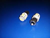 Лампа светодиодная 12V T4w (BA9s) 5smd (5050-15 lm) белый (14110) Габариты, подсветка салона приборной панели