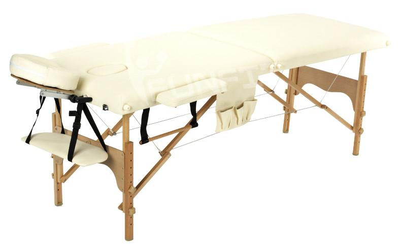 Массажный стол деревянный двухсегментный Body Fit (Бежевый)