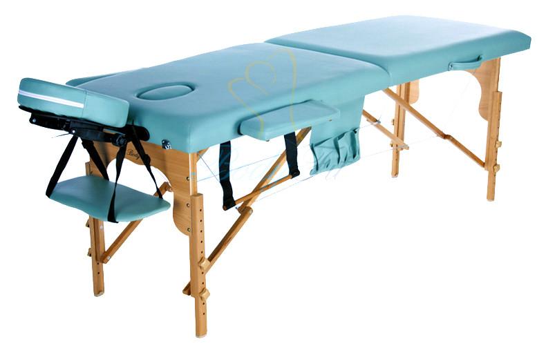 Массажный стол деревянный двухсегментный Body Fit (Фисташковый)