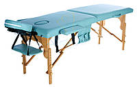 Массажный стол деревянный двухсегментный Body Fit (Фисташковый), фото 1