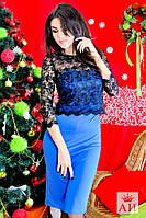 Женское платье топ из кружевного турецкого гипюра