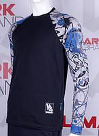 Красивый свитшот с принтированным рукавом, фото 1