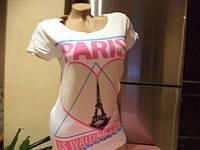 Футболка  с принтом Париж