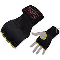 Накладки (перчатки) для карате PL+эластан MATSA MA-6022-BK (р-р S-XL, черный)