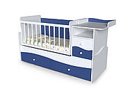Кроватка-Трансформер Волна (тумба+стол)