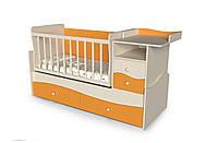 """Кроватка-Трансформер """"Волна""""(люлька+кровать+стол) от 0 до 15 лет"""