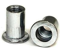 Заклепки резьбовые — клепальные гайки с плоской головкой от М3 до М12