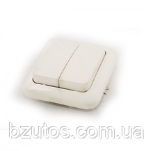 Вимикач С56-У13 АБС 2-клавішний