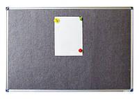 Доска магнитно-текстильная 60x90см алюмин. рамка, фото 1
