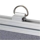 Доска магнитно-текстильная 60x90см алюмин. рамка, фото 3