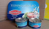 Тунец Donzella Tono консервированный в масле 80 g из Италии, фото 1