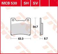 Тормозные колодки Yamaha TRW / Lucas MCB530SH