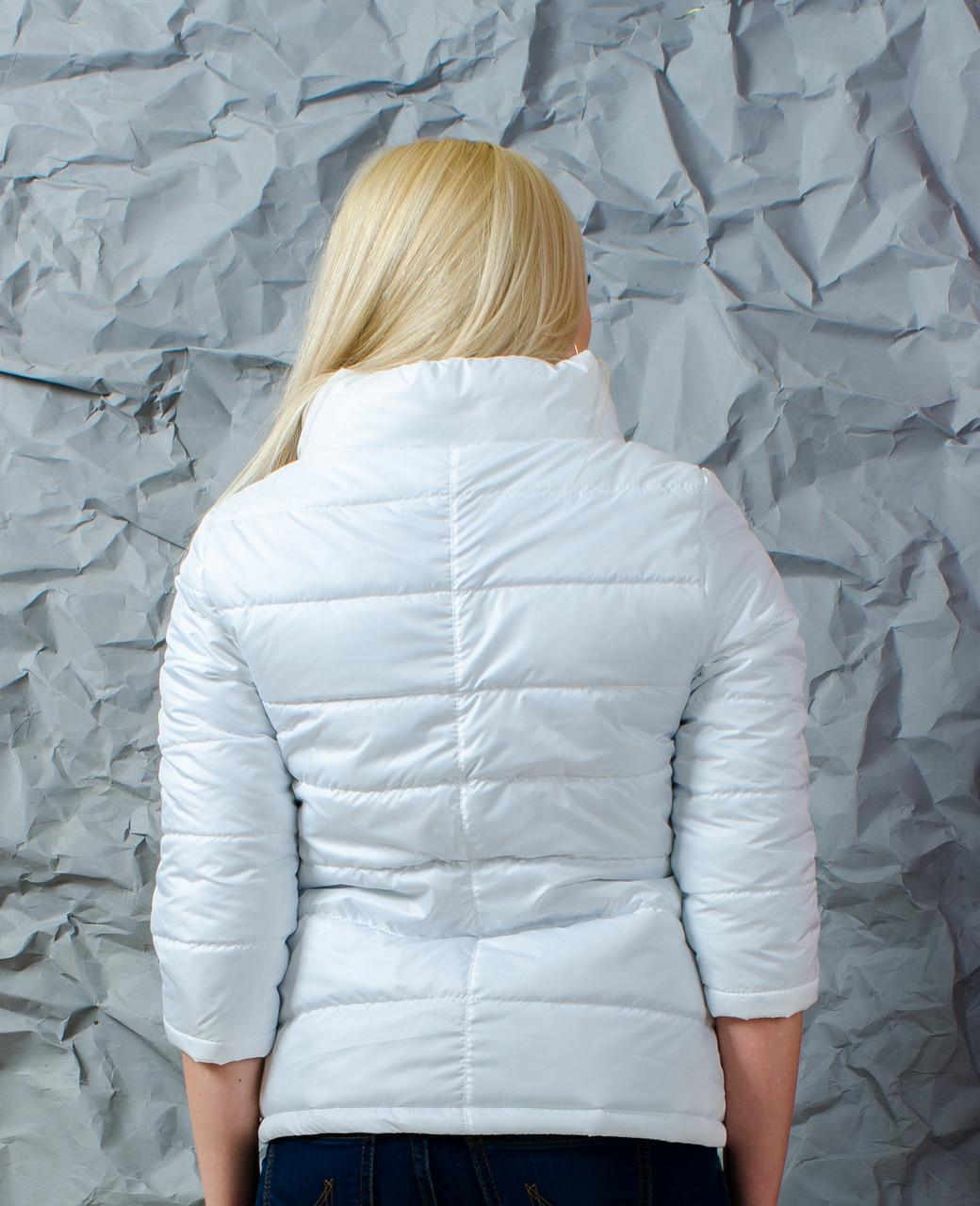 4b23e06fa10 Куртка женская рукав 3 4 белая  продажа