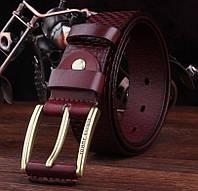 Кожаный ремень, пояс Tommy Hilfiger, натуральная кожа. Удобный в пользовании. Универсальный пояс. Код: КЕ476