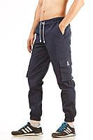 Мужские штаны карго Ястребь Navy Blue синий, зауженные с карманами (брюки-карго, Cargo)