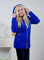 Куртка женская с капюшоном электрик